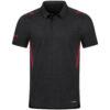 black melange/red