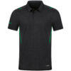 black melange/sport green