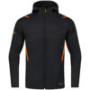 black melange/neon orange